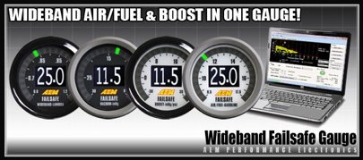 AEM's Failsafe Boost and Air Fuel Gauge on
