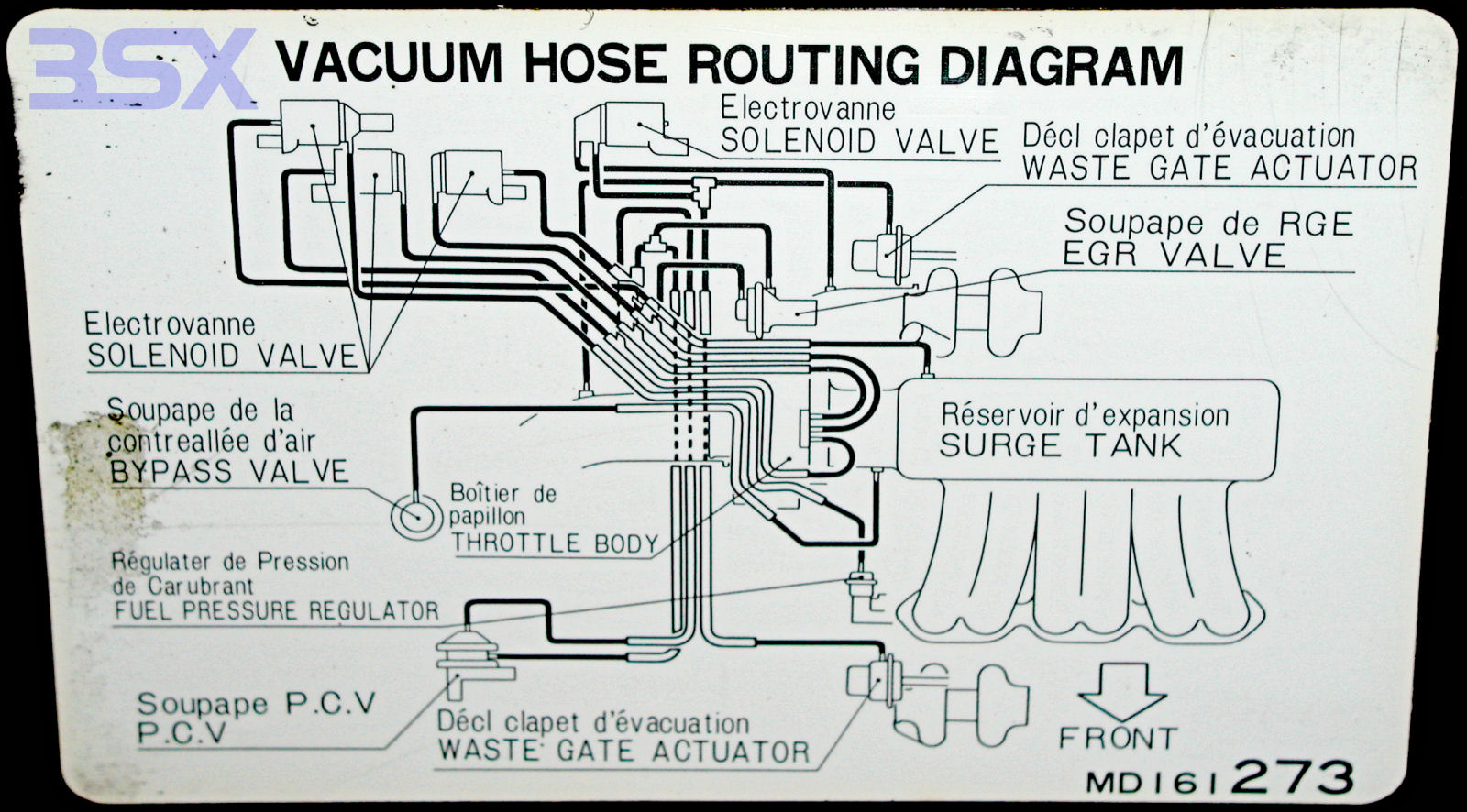 car engine vacuum line basics repair leak leaks  1998 acura integra engine department diagram #5