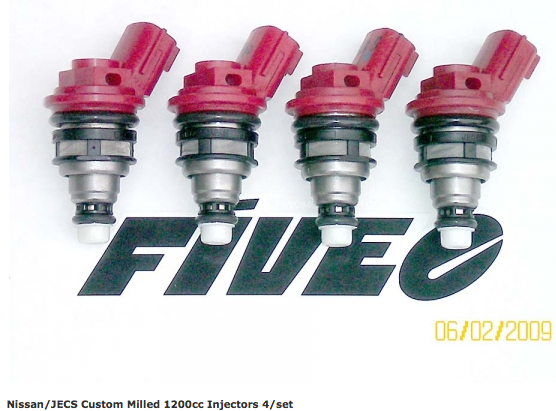 FiveOMotorsports 1200cc side feed injectors E85 Review